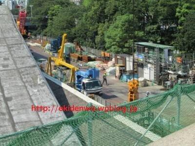 工事用の桟橋